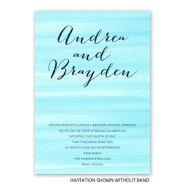Sweet Serenity - Aqua - Invitation