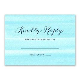 Sweet Serenity - Aqua - Response Card