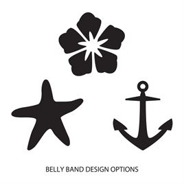 Belly Bands for Invitations: Sweet Serenity Belly Band