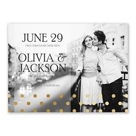 Hello Contempo - Gold - Foil Save the Date Card