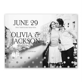 Hello Contempo - Silver- Foil Save the Date Card