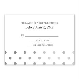 Hello Contempo - Silver - Foil Response Card