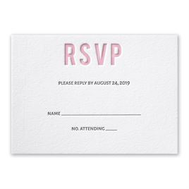 Sweet Simplicity - Letterpress Response Card