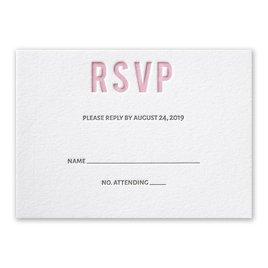 Sweet Simplicity - Letterpress Response Card