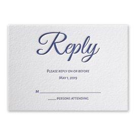 Modern Charm - Letterpress Response Card