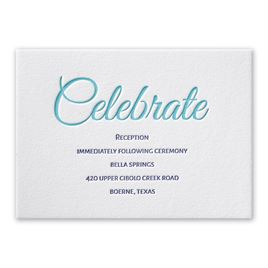 Modern Charm - Letterpress Reception Card