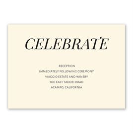 Clean Cut - Reception Card