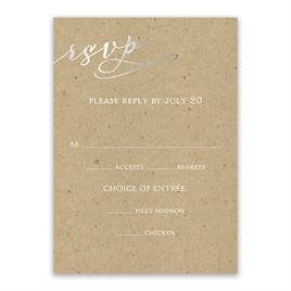 Rustic Glow - Silver Foil - Response Card