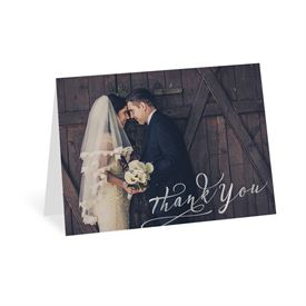 Rustic Glow - Silver Foil - Thank You Card