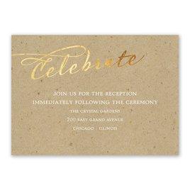 Wedding Reception Cards: Rustic Glow Foil Reception Card