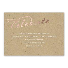 Rustic Glow - Rose Gold Foil - Reception Card