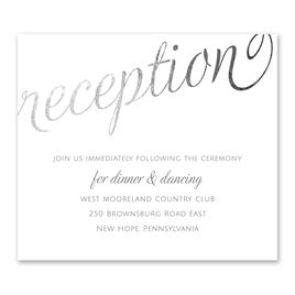 Old Style Script - Silver Foil - Information Card