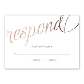 Old Style Script - Rose Gold Foil - Response Card
