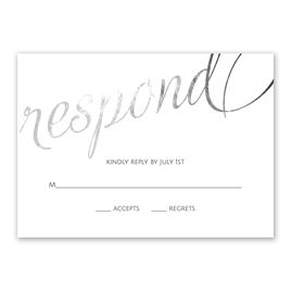 Old Style Script - Silver Foil - Response Card