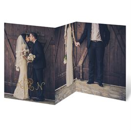 Showcase Your Love - Gold Foil - Thank You Card