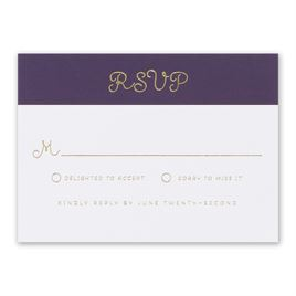 Showcase Your Love - Gold Foil - Response Card