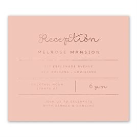 Showcase Your Love - Rose Gold Foil - Information Card