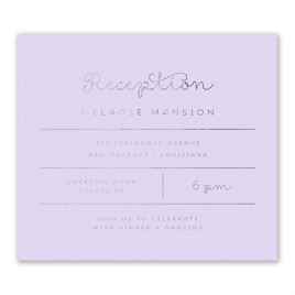 Showcase Your Love - Silver Foil - Information Card