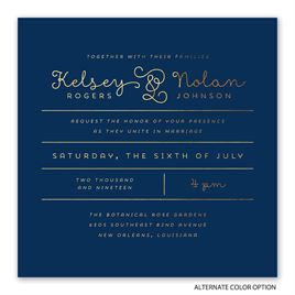 Showcase Your Love - Gold Foil - Invitation