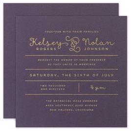 Showcase Your Love - Gold Foil - Invitation