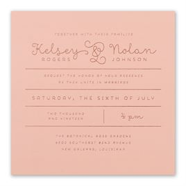 Showcase Your Love - Rose Gold Foil - Invitation