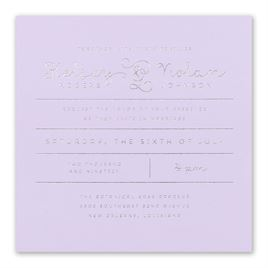 Showcase Your Love - Silver Foil - Invitation