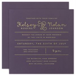 The Signature Collection: Showcase Your Love Foil Invitation