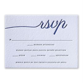 French Beauty - Letterpress Response Card