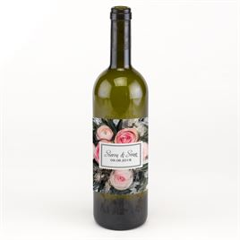 Wine and Water Bottle Labels: 