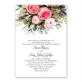 Ethereal Garden with Wording Options - Gold - Foil Invitation