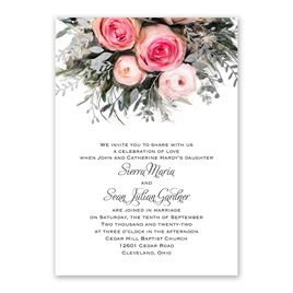 Ethereal Garden with Wording Options - Silver - Foil Invitation