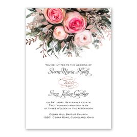 Ethereal Garden - Rose Gold - Foil Invitation