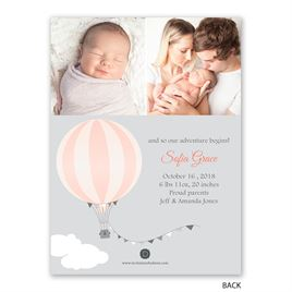 Up, Up & Away - Petite Birth Announcement