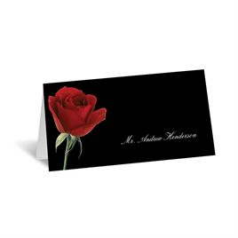 Wedding Reception Decorations: Rose Red Place Card