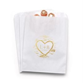 Birch Tree Carvings - White - Favor Bags