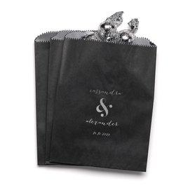 Modern Glow - Black - Favor Bags