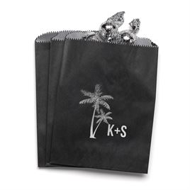 Palm Trees - Black - Favor Bags