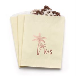 Palm Trees - Ecru - Favor Bags