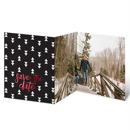 Modern Christmas - Foil Holiday Card Save the Date