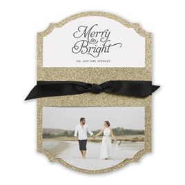 The Colin Cowie Holiday Collection: Gold Sparkle Real Glitter Holiday Card