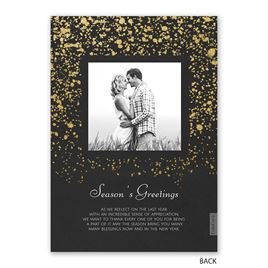 Falling Glitter - Foil Holiday Card