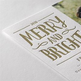 Vintage Holiday - Letterpress Holiday Card