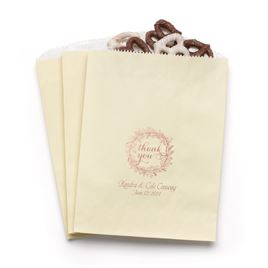 Rustic Wreath - Ecru - Favor Bags