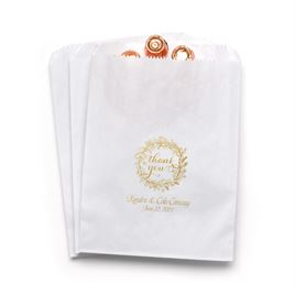 Rustic Wreath - White - Favor Bags
