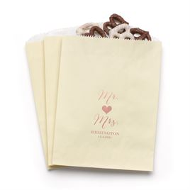 Mr and Mrs - Ecru - Favor Bags