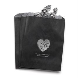 Brush of Love - Black - Favor Bags