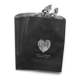 Brush of Love - Black - Favor Bags