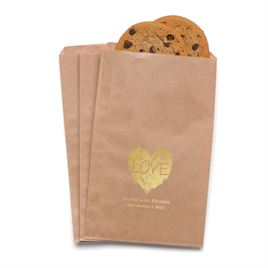 Brush of Love - Kraft - Favor Bags