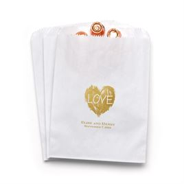 Brush of Love - White - Favor Bags