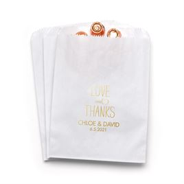 Love and Thanks - White - Favor Bags